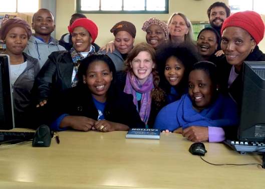 library staff in Fort Hare, South Africa
